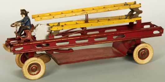 Kingsbury Toy Ladder Fire Truck