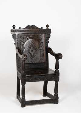 Jacobean Carved Armchair,