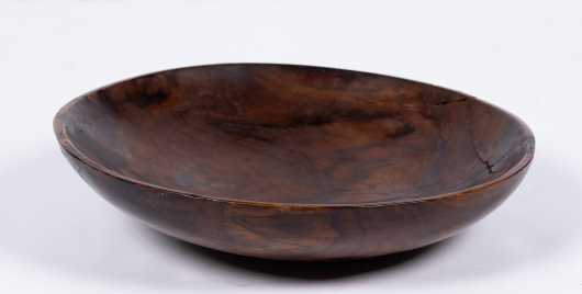 Hawaiian Kou Wood Deep Dish Plate