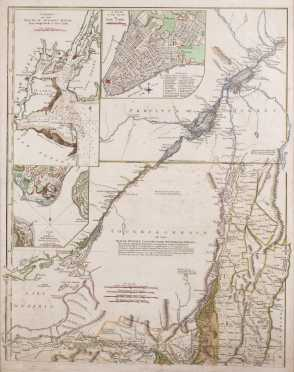 18thC Map of Quebec Province and Champlain Valley, VT