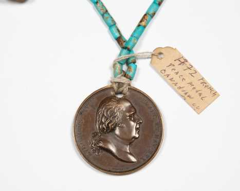 French 1772 Canadian Indian Trade Peace Medal