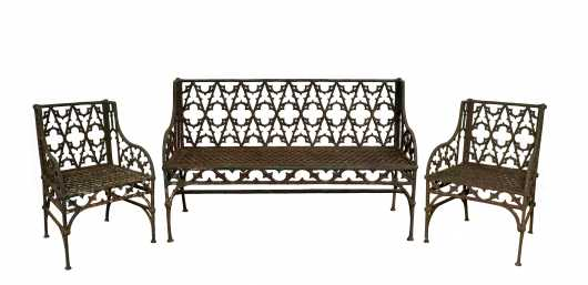 American Cast Iron Gothic Design Three Piece Set