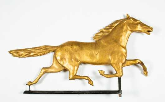 19thC Running Horse Copper Weathervane