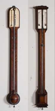 Two Early English Mercury Stick Barometers