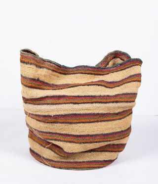 Navajo Woven Round Basket Bag
