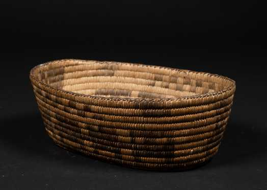 South Western Native American Oval Basket