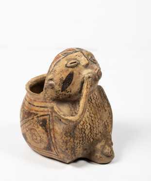 """Casas Grandes"" Decorated ""Effigy"" Pottery Figural Pot"
