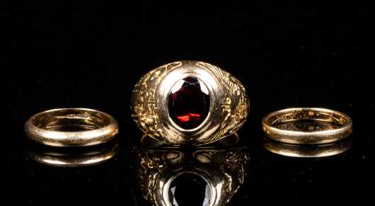 Three Yellow Gold Rings
