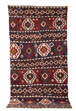 Caucasian L19thC Kilim Oriental Rug
