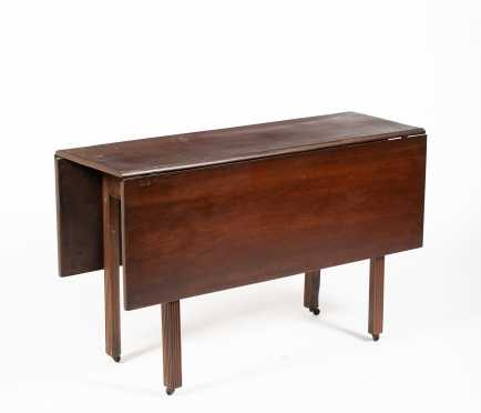 New England Mahogany Chippendale Drop Leaf Table