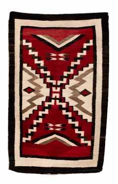 C1900 Native American Navajo Scatter Rug