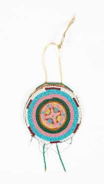 Native American Beaded Roundel/ Pouch