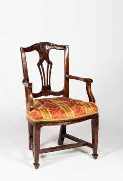 Adam Period Fruitwood Armchair