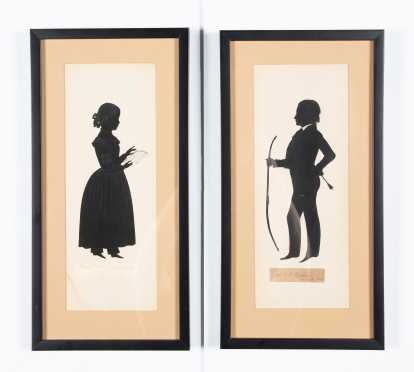 Two Silhouettes, Miss Mary Minor Humphries of New Orleans