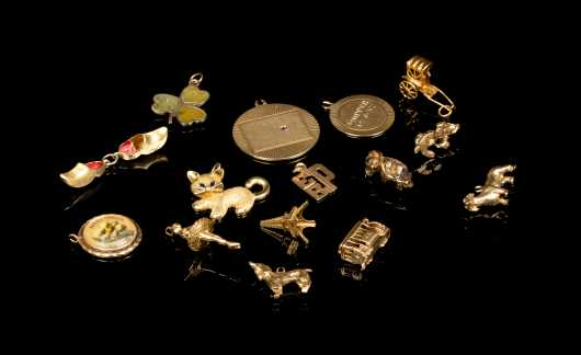 Lot of Loose Yellow Gold Charms