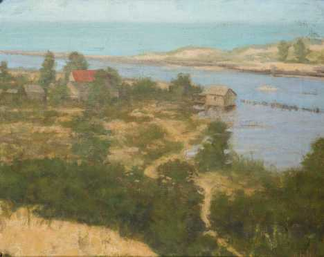 August Petrytl Signed Coastal Landscape