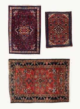 Three Hamadan Oriental Rug Scatters
