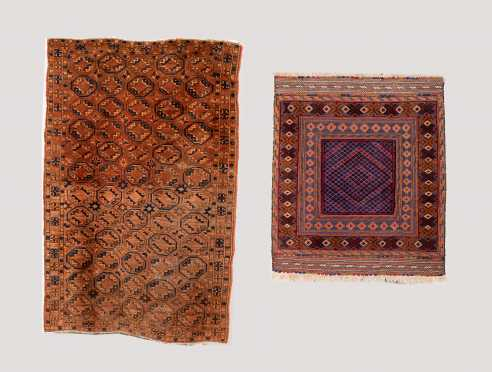 Two Tribal Oriental Rug Scatters