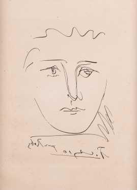 """""""Pour Roby"""" Pablo Picasso (born 1881) Print"""