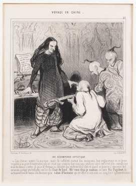 "After Honore Daumier, ""Voyage en Chine"" Print"