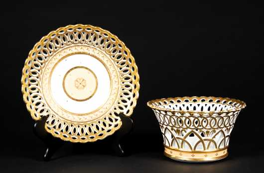 Paris Porcelain Reticulated Bowl and Underplate