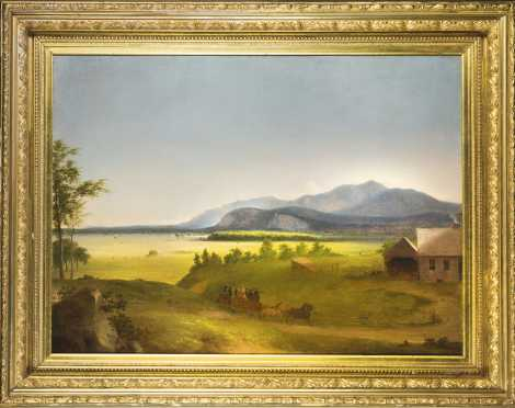 School of John F. Kensett or Benjamin Champney- Moat Mountain/ N.Conway Meadows