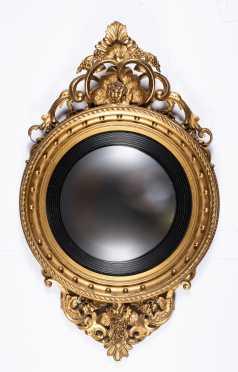 Girandole Convex Gilded Mirror