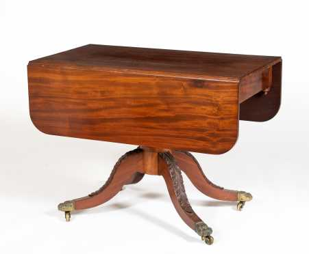 Mahogany Pedestal Base Breakfast Table