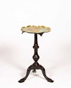 Decorative Queen Anne Style Kettle Stand,