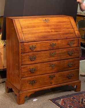 Maple Chippendale Style Slant Front Desk