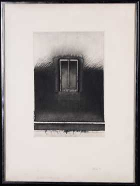 Modern Print of Doorway in Grass