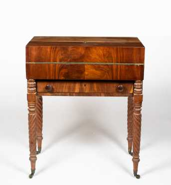 Mahogany Empire Captain's or Box Desk