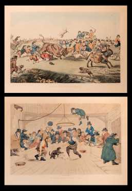 Pair of English Colored Prints