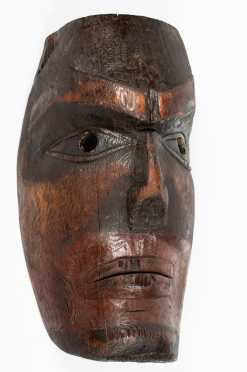 "Rare Northwest Coast ""Nootka"" Early Cedar Mask"