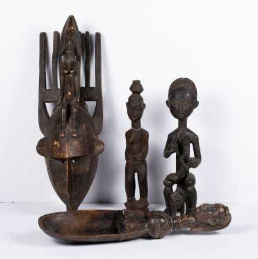 Four African Wood Carvings