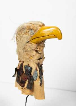 Native American Tlingit Eagle Head Puppet