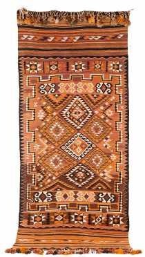 Modern Afghan Kalim Scatter Size Rug