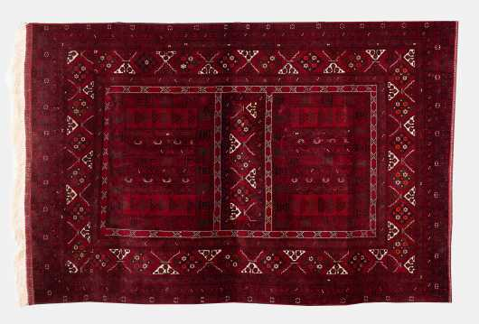 Modern Bokhara Scatter Size Oriental Rug