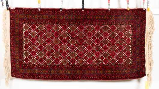 Modern Bokhara Oriental Scatter Rug