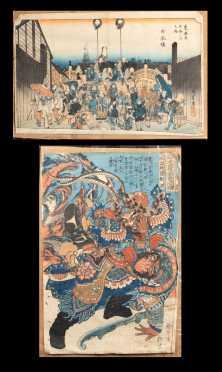 Two Unframed Japanese Block Prints