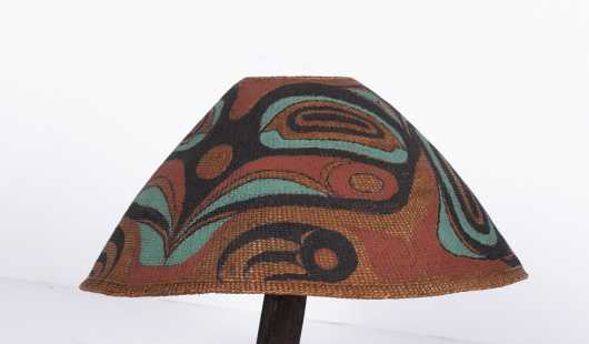 Northwest Coast Nootkalmakah Paint Decorated Basket Hat