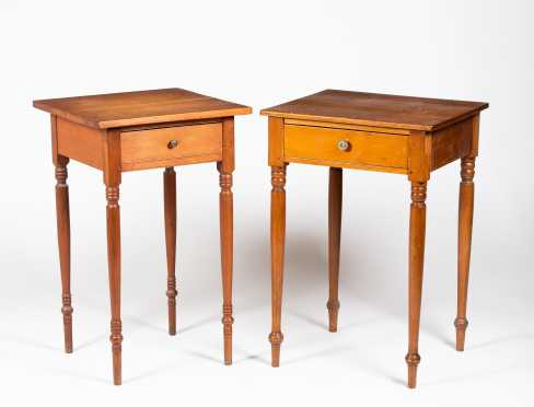 Two Similar Sheraton One Drawer Stands
