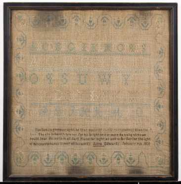Alphabet, Number and Saying Sampler