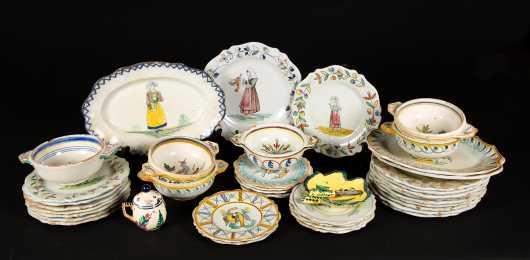 Quimper Style Tableware
