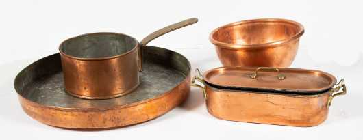 Five Pieces of Copperware