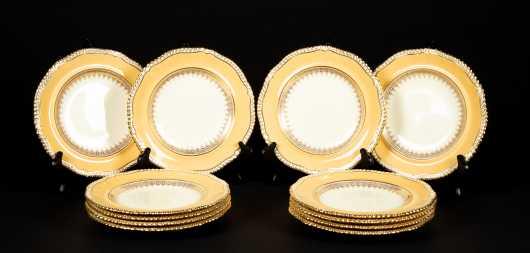 Twelve Copelands Dessert Plates