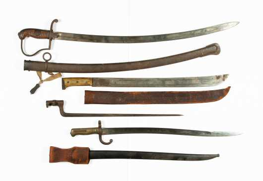 Three Swords and a Bayonet