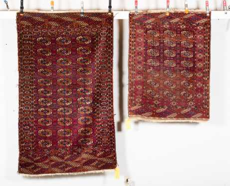 Two Tekke Bokhara Scatter Size Oriental Rugs