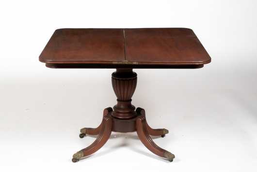 Classical American Mahogany Card Table