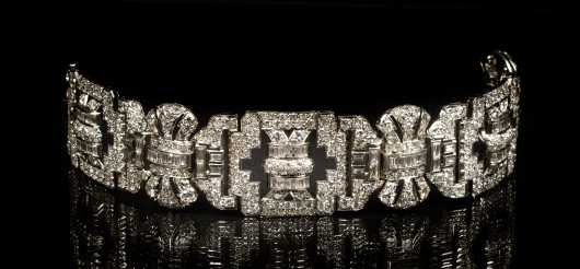 Period Art Deco Diamond and Platinum Bracelet